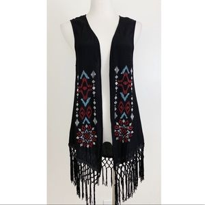 Ariat Fringe Cowgirl Vest Embroidered